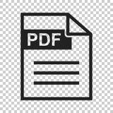 Ícone do vetor da transferência do pdf Pictograma liso simples para o negócio, miliampère ilustração stock