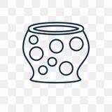 Ícone do vetor das bolas dos doces isolado no fundo transparente, linha ilustração stock