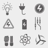 Ícone do vetor de Electriciy Foto de Stock
