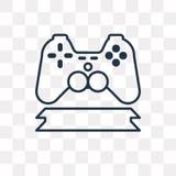 Ícone do vetor de Gamepad isolado no fundo transparente, G linear ilustração royalty free