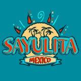 Ícone do vetor de Sayulita México, projeto do emblema ilustração do vetor