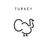 Ícone do vetor de Turquia Fotos de Stock