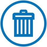 Ícone do vetor do balde do lixo ilustração stock