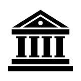 Ícone do vetor do banco Imagens de Stock Royalty Free