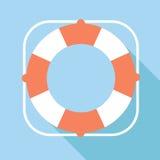 Ícone do vetor do boia salva-vidas Fotos de Stock Royalty Free