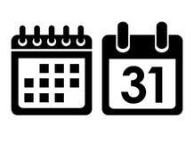 Ícone do vetor do calendário Fotografia de Stock Royalty Free