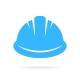 Ícone do vetor do capacete de segurança do trabalhador Fotografia de Stock Royalty Free