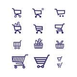 Ícone do vetor do carrinho de compras Fotografia de Stock