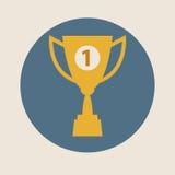 Ícone do vetor do copo do troféu, projeto liso Conceito-vencimento, vitória, campeão, qualidade ilustração stock