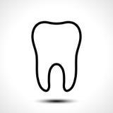 Ícone do vetor do dente Foto de Stock