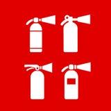 Ícone do vetor do extintor da proteção contra incêndios ilustração stock