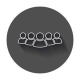Ícone do vetor do grupo de pessoas na linha estilo Illustra do ícone das pessoas Foto de Stock