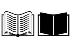 Ícone do vetor do livro Foto de Stock