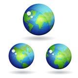 ícone do vetor do mapa do globo do mundo 3d Fotos de Stock Royalty Free
