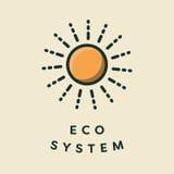 Ícone do vetor do sol ilustração royalty free