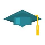 Ícone do vetor do tampão da graduação Foto de Stock Royalty Free