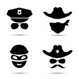 Ícone do vetor do xerife no branco Imagens de Stock Royalty Free