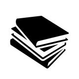 Ícone do vetor dos livros Foto de Stock