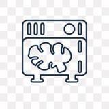Ícone do vetor dos servidores isolado no fundo transparente, S linear ilustração stock