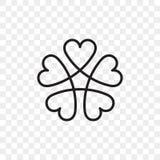 Ícone do vetor do logotipo do coração ilustração stock