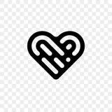 Ícone do vetor do logotipo do coração ilustração royalty free