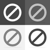 Ícone do vetor que proibe o sinal impossível Pare e proiba o sinal Vec ilustração royalty free