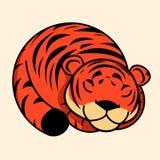 Ícone do vetor do tigre ilustração do vetor