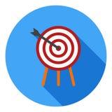 Ícone do vetor do tiro ao arco, símbolo dos esportes Ícone longo moderno, liso do vetor da sombra ilustração stock
