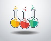 Ícone do vidro do laboratório Fotografia de Stock