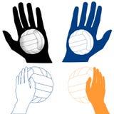Ícone do voleibol Fotos de Stock