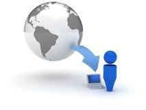 ícone do Web 3d - Downloads Fotografia de Stock
