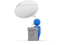 ícone do Web 3d - fórum Fotos de Stock