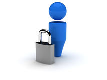 ícone do Web 3d - segurança Fotografia de Stock