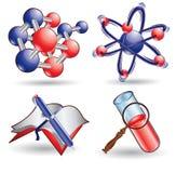 Ícone do Web da ciência da química Foto de Stock Royalty Free