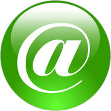 Ícone do Web de Arroba Fotos de Stock Royalty Free