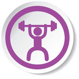 Ícone do Weightlifter Imagem de Stock Royalty Free