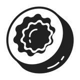 Ícone doce dos doces, estilo simples ilustração do vetor