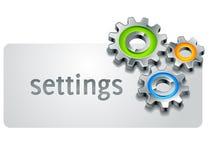 Ícone dos ajustes Imagens de Stock
