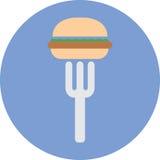 Ícone dos alimentos rápidos da sucata Foto de Stock Royalty Free