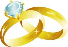 Ícone dos anéis de casamento ilustração do vetor