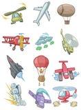 Ícone dos aviões dos desenhos animados ilustração stock