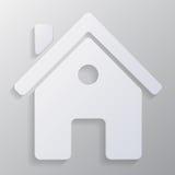 Ícone dos bens imobiliários do vetor no fundo cinzento Imagem de Stock