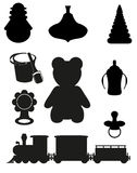 Ícone dos brinquedos e dos acessórios ilustração royalty free