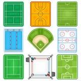 Ícone dos campos de esporte Imagens de Stock Royalty Free