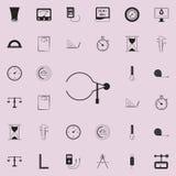 Ícone dos compassos de calibre Grupo detalhado de ícones dos elementos de medição Sinal superior do projeto gráfico da qualidade  ilustração royalty free