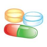 Ícone dos comprimidos ilustração stock