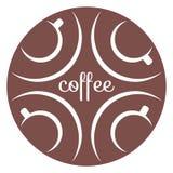 Ícone 2 dos copos de café Fotografia de Stock Royalty Free