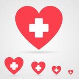 Ícone dos cuidados médicos do vetor Fotos de Stock Royalty Free