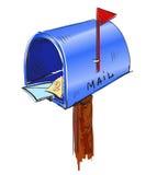 Ícone dos desenhos animados da caixa postal Fotografia de Stock