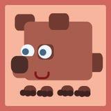 Ícone dos desenhos animados do urso de Brown Fotos de Stock